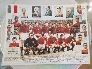 Rara foto ricordo Granata Torino Campioni D'Italia 1943 al 1949 50°ANNIVERSARIO