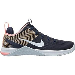 Da-Donna-Nike-metcon-DSX-Flyknit-misure-UK-3-Blu-Marino-Bianco-Rosa-Tinta-924595-404