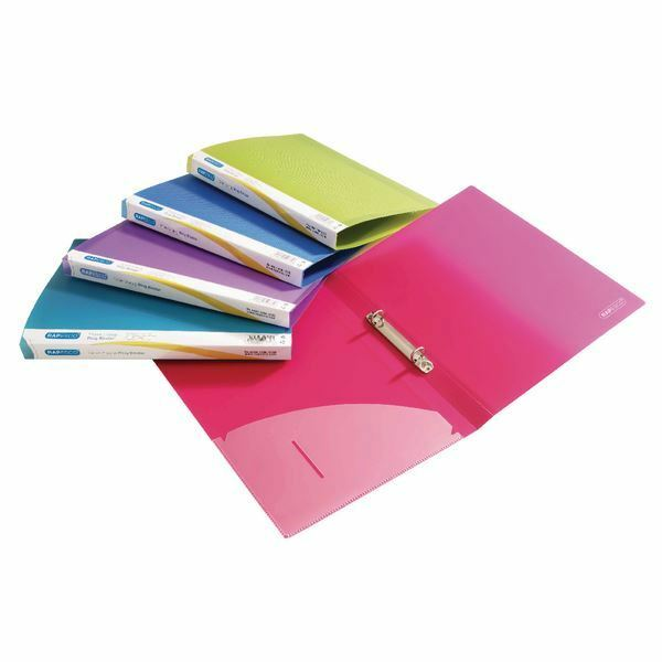 Rapesco A4 Ring Binder 15mm Assorted (Pack of 10) 0799 [HT40366]