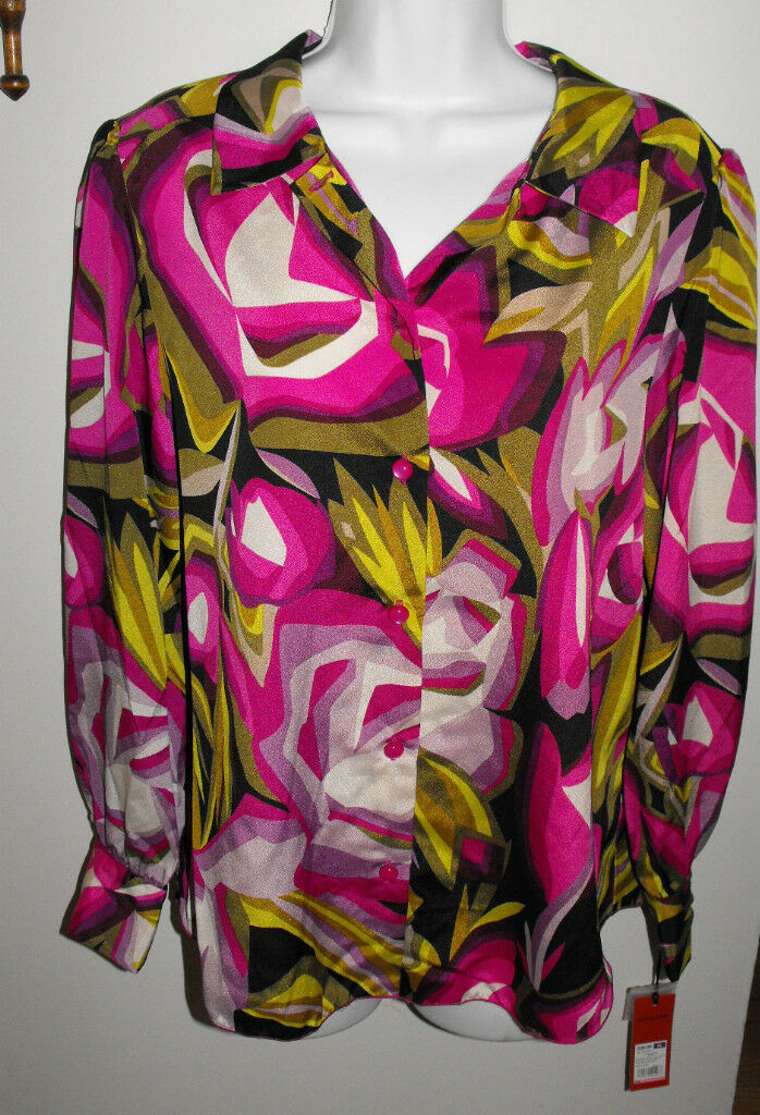 NWT Missoni for Target Bright Floral Woven Blouse Größe X-Large XL
