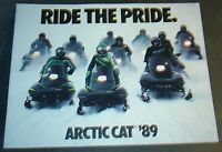 1989 ARCTIC CAT SNOWMOBILE FULL LINE SALES BROCHURE 36 PAGES NICE (719)
