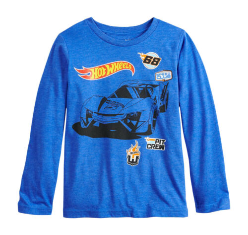 New Never Worn Size 5 Hot Wheels Boys Long Sleeve Blue Shirt