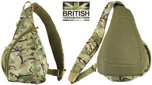 Army Combat Military BTP Rucksack Travel Cadet Sling Shoulder Day Bag Pack 12L