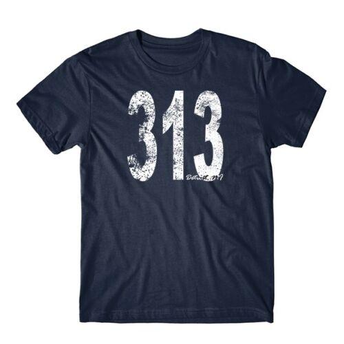 Retro Vintage Style Detroit Area Code 313 T-Shirt