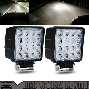2PC-48W-LED-WORK-LIGHT-BAR-SPOT-BEAM-LAMP-FIT-OFFROAD-TRUCK-12V-SUV-UTE-ATV-4WD
