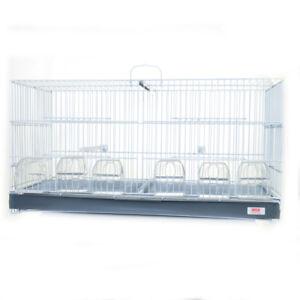Cage d'élevage 70cm 6 mangeoires, chardonnerets et oiseaux des Canaries