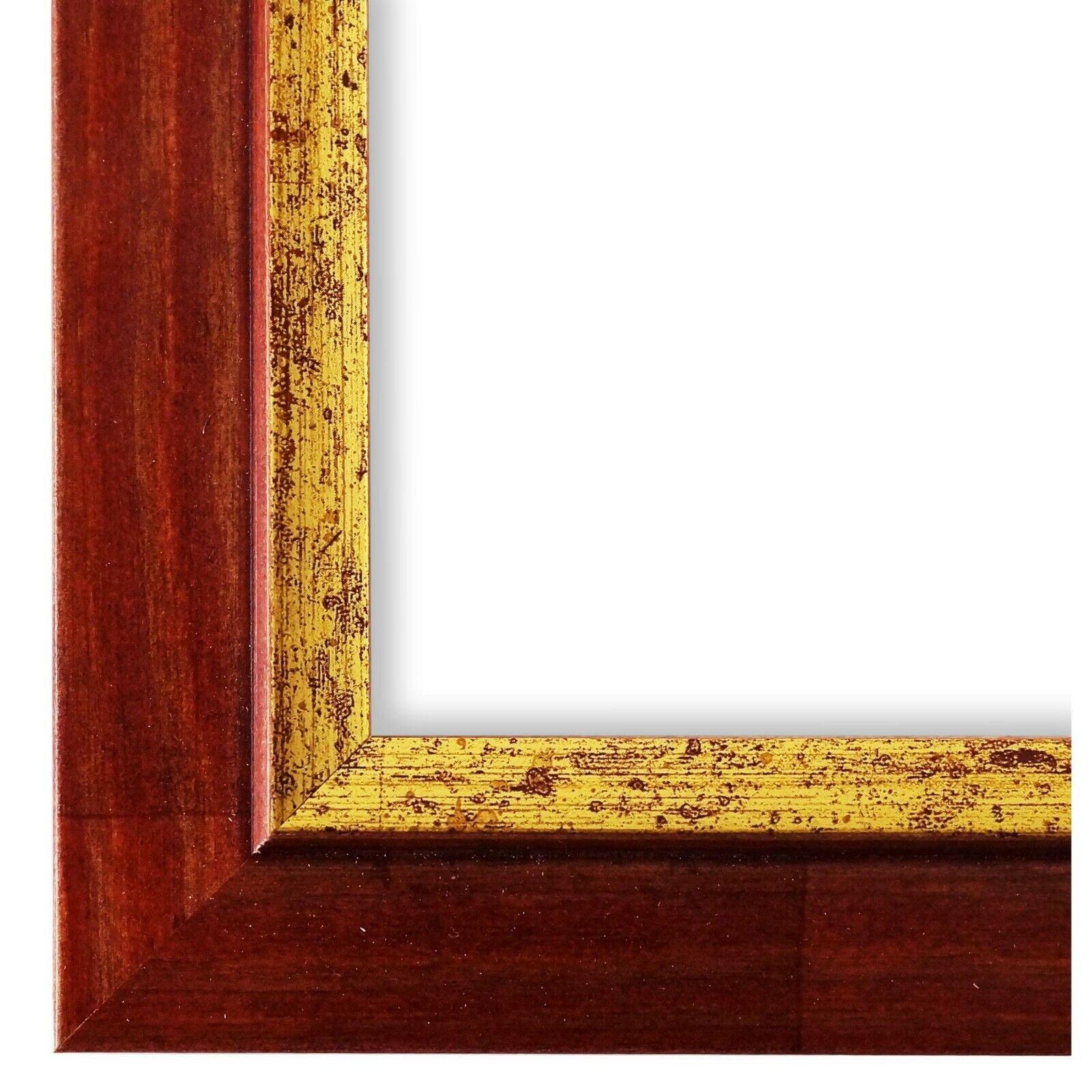 Bilderrahmen Rot Gold Vintage Antik Holz Catanzaro 3,9 - NEU alle Größen