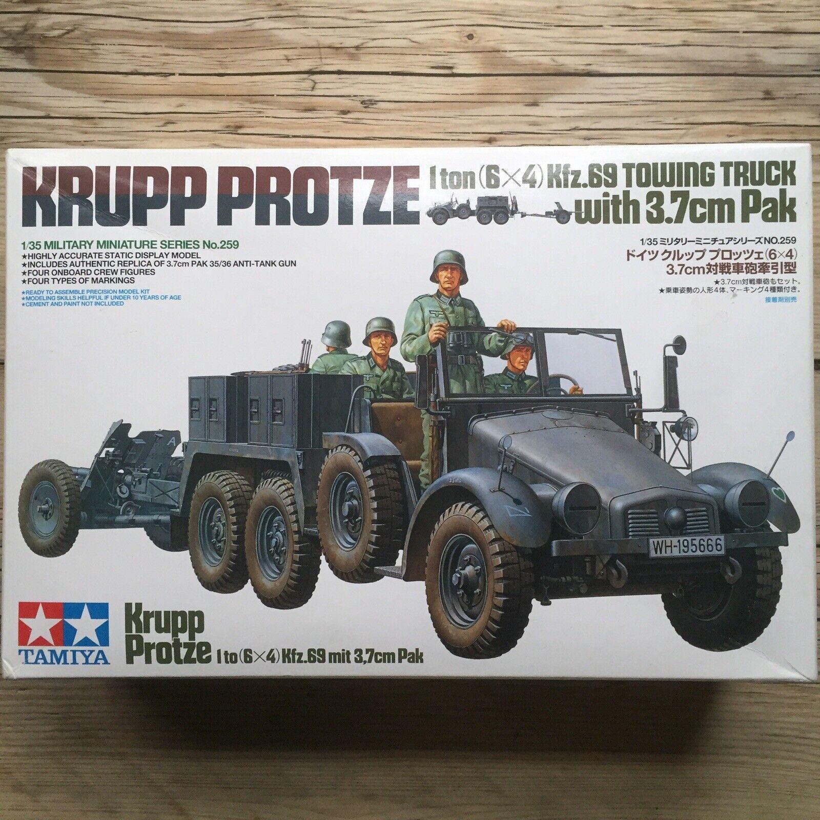 1 35 Tamiya - Krupp Predze Kfz.69 3.7cm Pak + Resin Engine Set + Photoetch