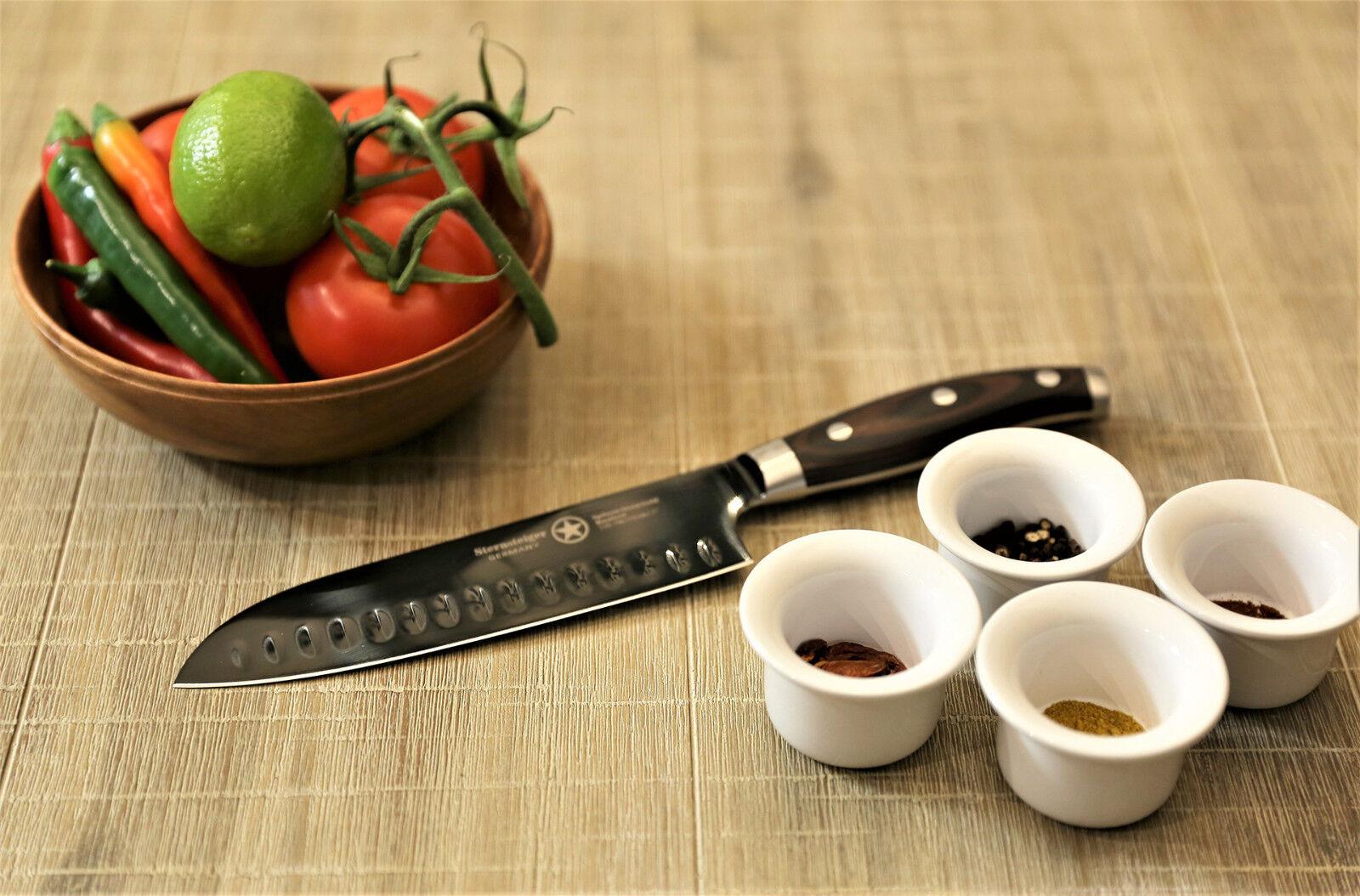 Couteau de cuisine, Titane couteau, couteau, couteau, Damascus knife, étoile Steiger, damassé