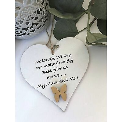 Mothers Day Mum Gift Shabby Chic Heart Love Keepsake Sign Plaque Mother S46