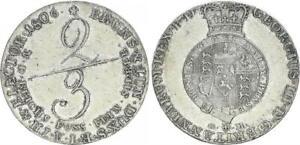 Braunschweig Calenberg Hannover 2/3 Thaler 1806GM Georg III EBC+ 54699