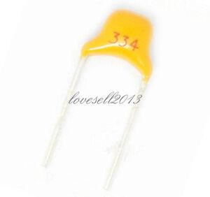 100Pcs 50V 0.33uF 330nF 334 Monolithic Ceramic Chip Capacitor NEW