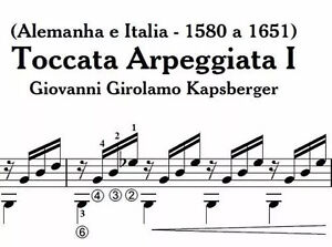 Details about PDF sheet music for classical guitar - Toccata Arpeggiata I -  G  Girolamo