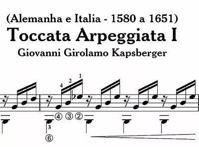 PDF sheet music for classical guitar - Toccata Arpeggiata I - G  Girolamo |  eBay