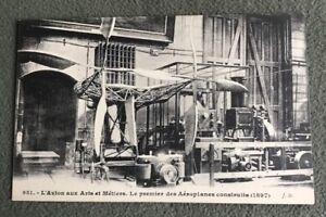CPA-L-Avion-aux-Arts-et-Metiers-Le-premier-des-Aeroplanes-construits-1897