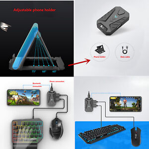 Details about PUBG Mobile Gaming Keyboard Mouse Adapter + Phone Holder for  Iphone & Android