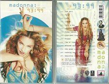 K7 VIDEO / VHS - MADONNA : LES MEILLEURS VIDEOS CLIPS DE 1993 à 99 BEST OF /TAPE