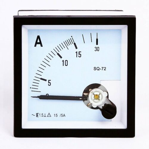 1PC SQ-72 Class 1.5 AC 15//5A Square Analog Panel AMP Current Meter Ammeter Gauge