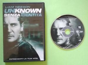 DVD-Film-Ita-Thriller-UNKNOWN-Senza-Identita-liam-neeson-ex-nolo-no-vhs-cd-T7