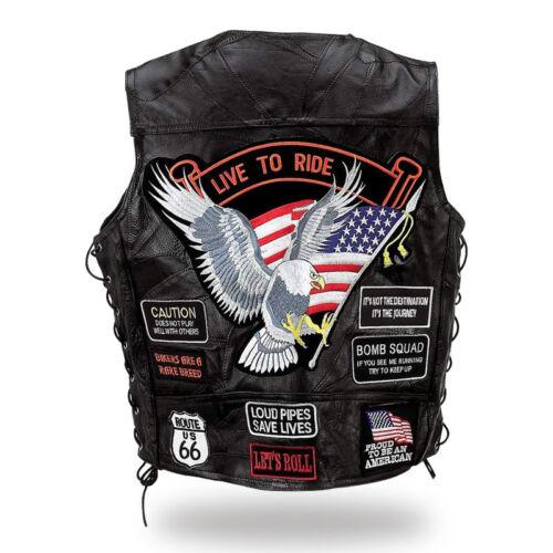 Rocker Biker GILET Pelle GILET Bad Company Leatherwear 54