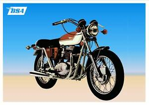 BSA 650 A65 Thunderbolt Motorcycle A3 Size Poster on Photographic Paper