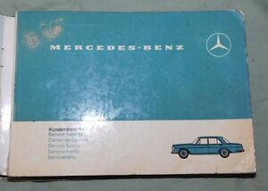Image Is Loading MERCEDES BENZ Owners Manual Service Booklet 1967 W