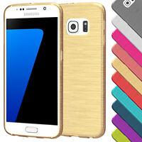 Brushed Cover für Samsung Galaxy Serie Schutz Hülle Slim Case Silikon TPU Tasche
