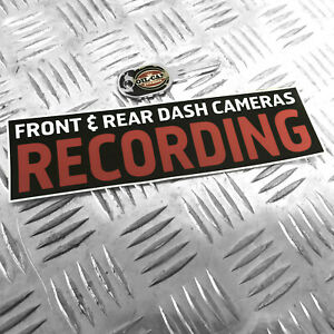 1X-FRONT-amp-REAR-DASH-CAMERAS-RECORDING-FUNNY-CAR-STICKER-DECAL-BUMPER