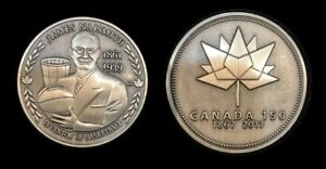 James-Naismith-Inventor-of-Basketball-Canada-150-Medal-Silver-Plate-Only-50-Made