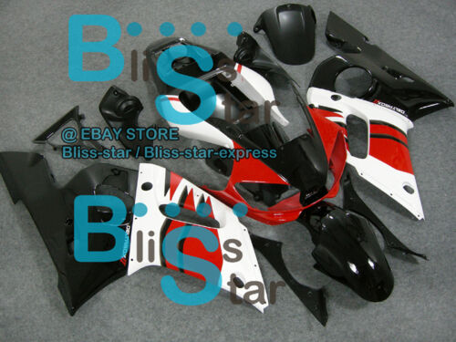 White Black INJECTION Fairing For Yamaha YZFR6 YZF-R6 1998-2002 27 B2