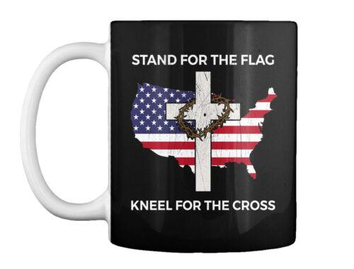 Cross Gift Coffee Gift Coffee Mug Premium Patriotic Stand For The Flag Kneel T