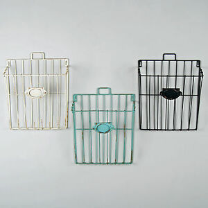 Image Is Loading Wire Magazine Newspaper Basket Wall Mounted Post Storage