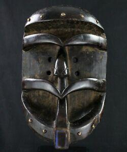 Arte Africano tribal - Splendido Maschera Glé O Pezzi Bestia - 35 CMS