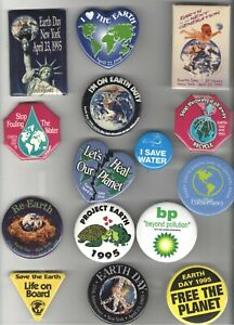 15 old EARTH DAY Renewable ENERGY Environment pin CONSERVATION Climate CHANGE