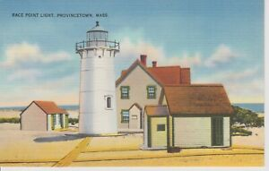 Race-Point-Lighthouse-Provincetown-Mass-Vintage-Postcard