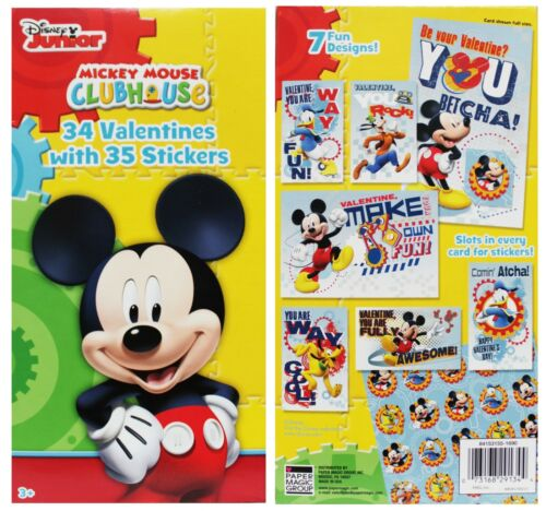 *YOU CHOOSE* DISNEY JUNIOR* Various Characters VALENTINES DAY CARDS+Extras NEW