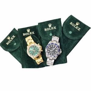 Pochette-tessuto-Floccato-Custodia-Monoposto-Verde-Porta-Rolex-Da-Viaggio