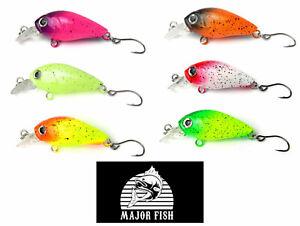 Major Fish Forellen Wobbler Airbrush Hot Colours 38mm 5,5g MFB My Fishing Box
