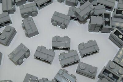 Parts /& Pieces size 1x2 5 x Lego grey profile bricks single groove – 6000066