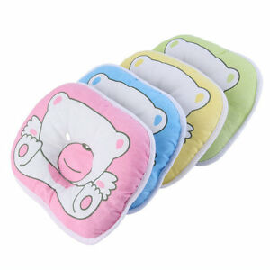 Bear Pattern Pillow Newborn Infant Baby Support Cushion Pad Prevent Flat Head HN