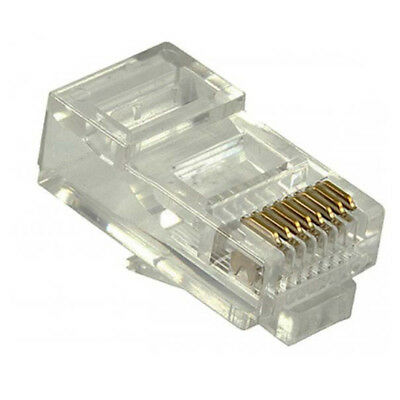 Pkg of 25 IDEAL 85-346 RJ-45 8-POS 8-Contact Plugs