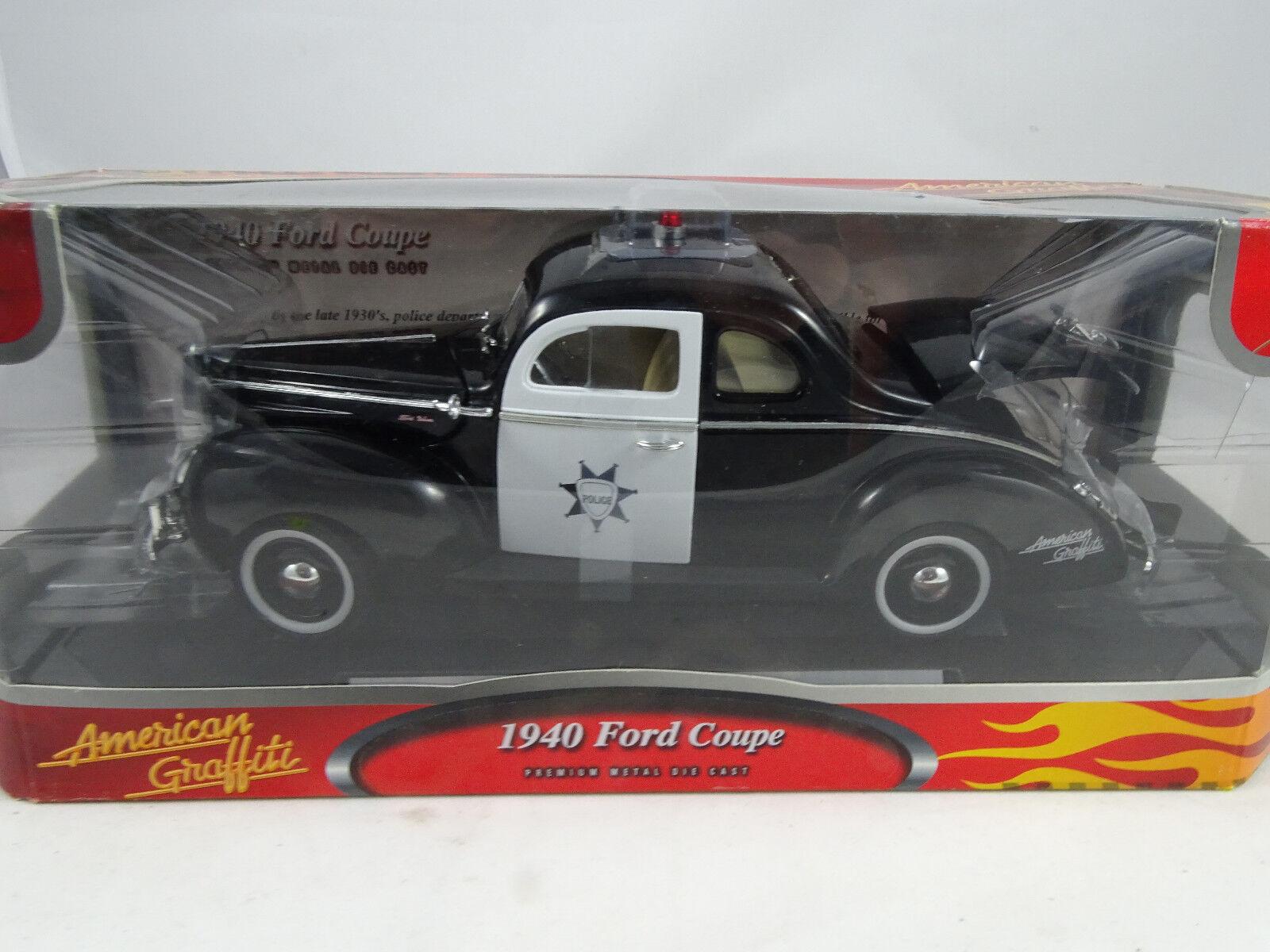 18 von max filmmodell american graffiti 1940 ford coupé polizei - rarit ä t