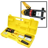 16 Ton Hydraulic Wire Crimper Crimping Tool 11 Dies Battery Cable Lug Terminal on sale