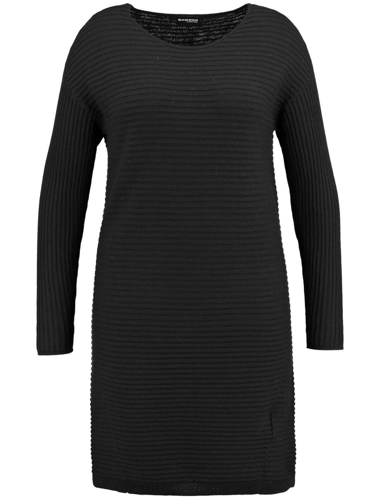 Abito samoon by Gerry Weber abito a maglia manica lunga nero nuovo donna tg. 50