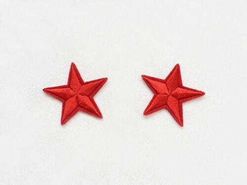 Étoiles rouges militaire Pinup Rockabilly Fashion Iron on Brodé Patch Bricolage Personnalisé