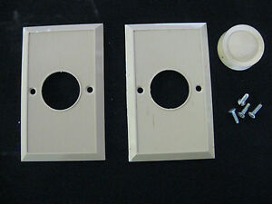 Two Off White Ribbed Dimmer Switch Plate Covers W Screws 1dimmer