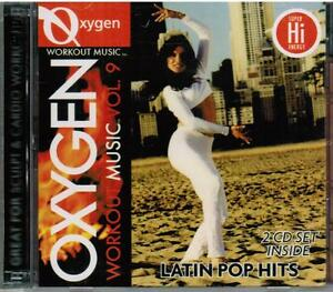 Oxygen-Workout-Music-Volume-9-2-CD-Set-Latin-Pop-Hits-Hi-Energy-Cardio-Workouts