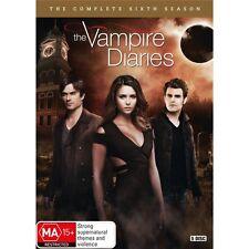 THE VAMPIRE DIARIES-Season 6-Region 4-New AND Sealed-5 Dics Set-TV Series