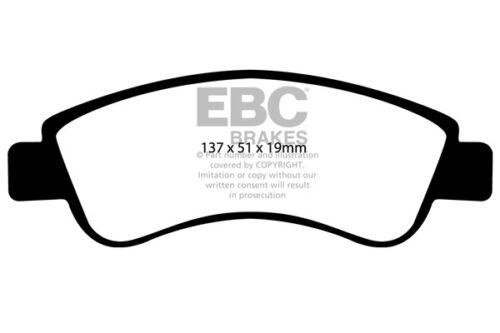 EBC Ultimax Front Brake Pads for Citroen C2 1.6 VTS 125 BHP 2005 /> 09