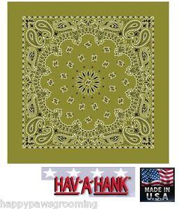 Made in USA Verde Oliva Motivo Cachemire Bandana 55.9cm Fascia per ... 68cad28ecc8e
